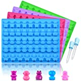 Silicone Candy Gummy Bear Molds - Chocolate Molds Including Bears, Frogs, Lions, Monkeys, Penguins Gummie Molds Premium Silic