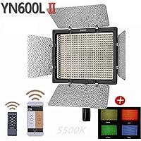 YONGNUO YN600L II LEDカメラライト 600球LED 5500K単色 補助カメラ 補助照明 AC電源アダプター付き