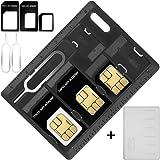SIMカード & MicroSD ホルダー 2 リリースピン AFUNTA 2パック カード収納ケース マイクロ ナノ…