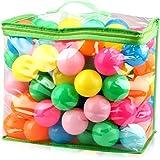 iKing カラーボール 海洋ボールのおもちゃ 7色 直径5.5cm カラフル 多色 やわらかポリエチレン製 PE より厚み 弾力あり 表面柔らかい 赤ちゃんおもちゃ ベビー用おもちゃ 安全 無毒 匂いナシ ビーチ ボール 子供が喜ぶカラフルな配色