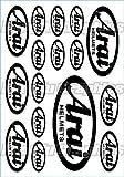 KUNGFU GRAPHICS カンフー グラフィックス アライ(ARAI) サイレンサー レーシングスポンサーロゴ マイクロデカールシート(ホワイト)