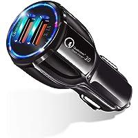 シガーソケット 車 充電ポート 車載充電器 usb カーチャージャー【Quick Charge 3.0対応・3.1A急速…