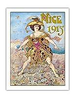 ニース、カーニバル1915 - ビンテージなカーニバルのポスター によって作成された グスタフ=アドルフ・モッサ c.1914 - アートポスター - 51cm x 66cm
