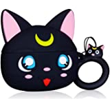 Jowhep Case for AirPod 2/1 Cartoon Design Cute Silicone Cover with Keychain Fashion Funny Shockproof Soft Protective Skin for