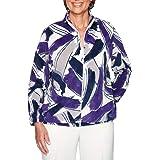 Alfred Dunner Women's Classics Brushstroke Polar Fleece Jacket