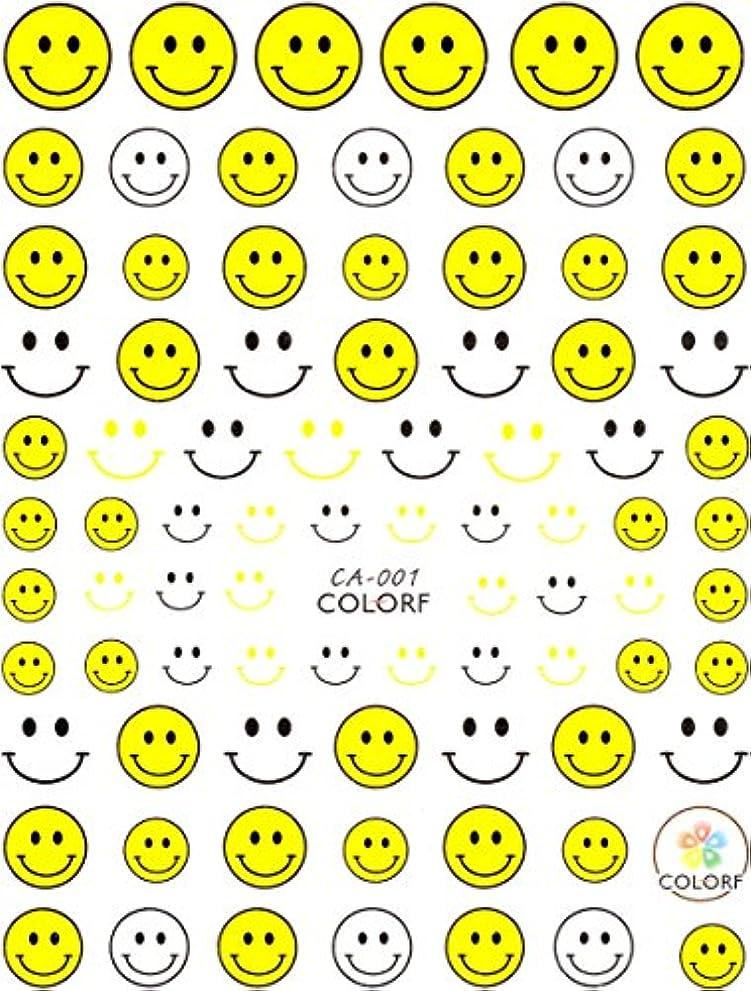 矩形聡明サークル極薄 ネイルシール ニコちゃん スマイル ネイルやデコ、レジン、アルバム制作などに (01-C01)