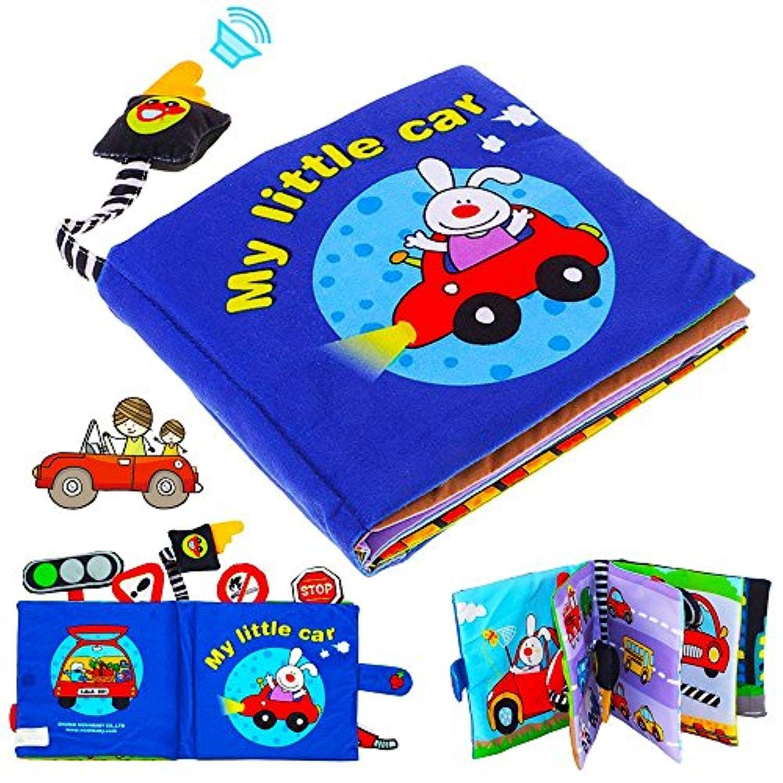 ここファッションベビーCrinkle布Book – My Little Car BookソフトPreschoolトラフィック知識学習帳for Toddler幼児