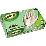 Sabco Sabco Large Disposable Latex Gloves - 100Pk, Large (SAB80038)