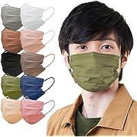 アイリスオーヤマ マスク 不織布 【120枚】 プリーツマスク ふつうサイズ カラーマスク APN-60LOK オリーブ…