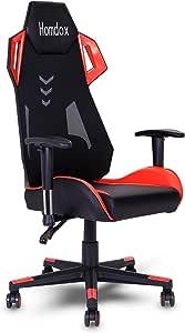 Homdox 高機能 ゲーミングチェア 155度 リクライニング チェア ハイバック 椅子 イス パソコンチェア PUレザー&メッシュ 腰痛対策ランバークッション ゲーム用チェア 座面昇降 ゲームチェア 耐荷重300kg 『一年保証』