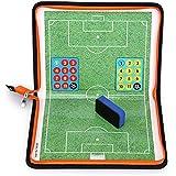 Sumnacon サッカー用のコーチボード タクティクスボード 戦略計画·指導など ミニサッカーボール 磁性作戦盤 ゲーム 折りたたみ