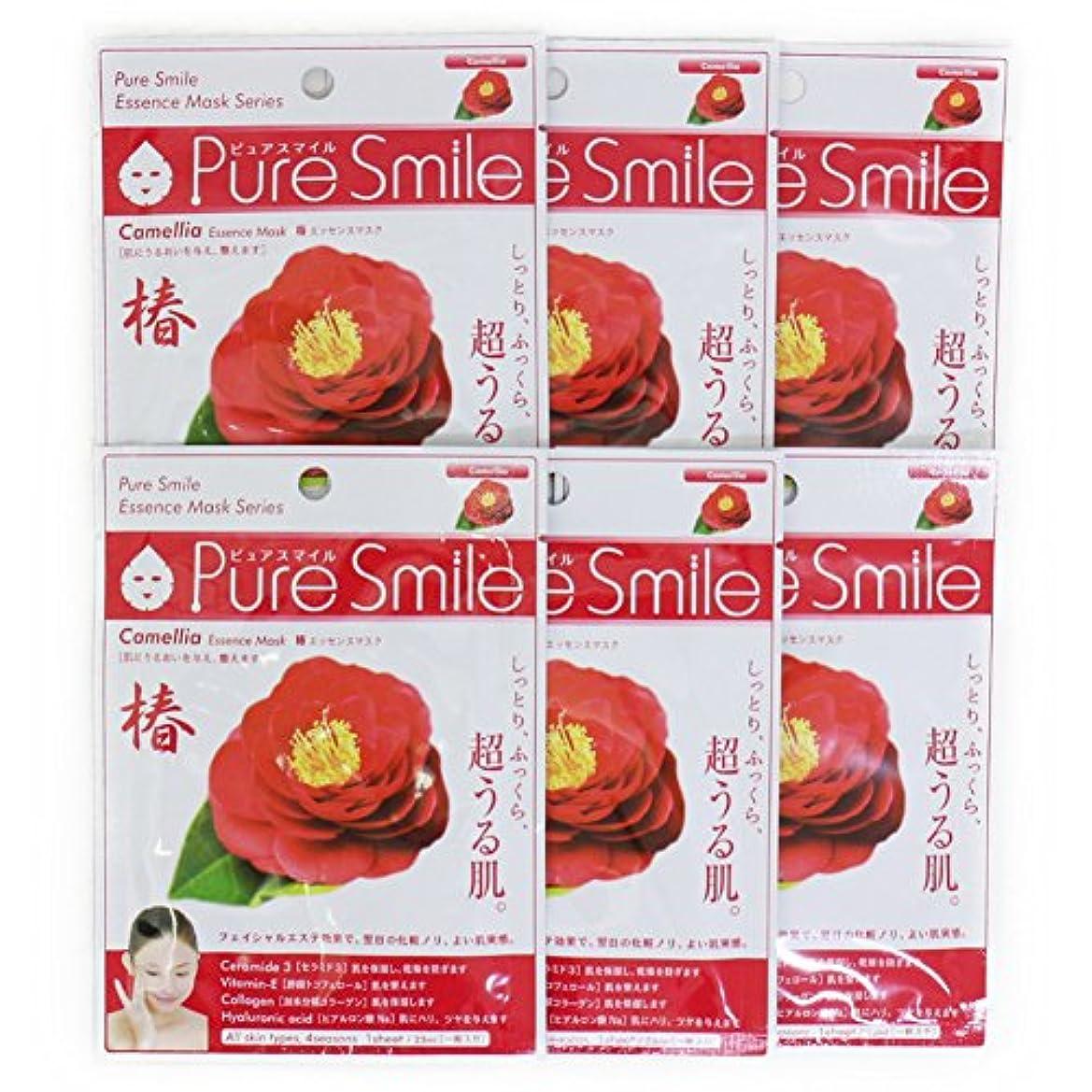 ドループ受け入れ手がかりPure Smile ピュアスマイル エッセンスマスク 椿 6枚セット