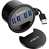 ORICO Desktop USB 3.0 Hub, 4 Ports USB3.0 Type A Grommet Desk-Fit USB Hub with 59inch Cable for 60mm Diameter Grommet Hole