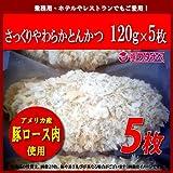 とんかつ 冷凍 米久 さっくりやわらか とんかつ (120g 5枚) 真空小分けパック トンカツ サクサクの衣とやわらかジューシーな味わい パン粉