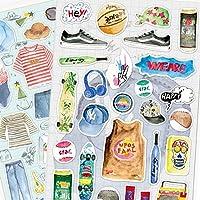 Nekoni Cartoon Fruit Food Drink Snacks Cat Dog Marine Animals Fashion sticker