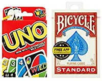 UNO Card Game from Mattel + Bicycle Standard Index Playing Cards