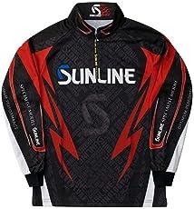 サンライン ステータス・PRODRYジップアップシャツ ブラック 3L-4L STW-5555CW トーナメントシャツ