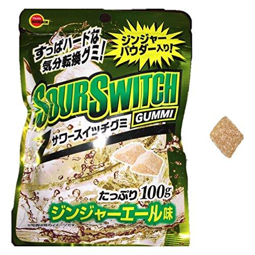 ブルボン サワースイッチグミ ジンジャエール味 100g×6袋 賞味期限7月26日まで!