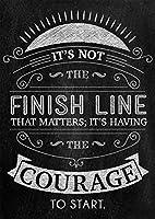 教室の刺激的な引用を示唆するuチョーク Classroom Motivational Quote Inspire U Chalk Painting silk fabric poster シルクファブリックポスター 80cm x 60cm