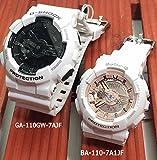 カシオCASIO 腕時計 G-SHOCK&BABY-G ペアウォッチ 恋人たちのGショックペア 純正ペアケース入り ジーショック&ベビージー ホワイト 白 アナデジ GA-110GW-7AJF BA-110-7A1JF 国内正規品
