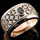 [アトラス] Atrus カラーチェンジガーネット 透かし 幅広 ピンクゴールド 18金 指輪 リング 希少石 メンズ 1-20号