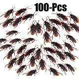 Funpa アブラムシ ゴキブリ 100匹 偽 動物 いたずら おもちゃ 面白い プラスチック ブラウン 本物見たい 恐ろしい ジョーク エイプリルフールの日 誕生日 プレゼント