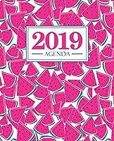 Agenda 2019: 19x23cm: Agenda 2019 Settimanale Italiano: Anguria Rosa 4770