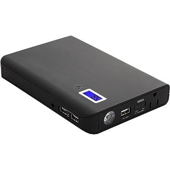 NexGadget モバイルバッテリー 24000mAh 大容量 薄型 超急速充電 3USBポートと1ACコンセント ノートPC/各種類スマホ対応