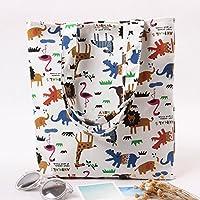 Student Tote Bag, Animals Shoulder Bag Light File Books Shopping Travel Handbag Polykor