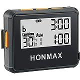 honmax 防水インターバルタイマー+ストップウォッチ,タイマーの用途: HIIT、Cross Fit、無酸素運動、重量挙げ、筋力トレーニング、タバタトレーニング、ケトルベル、MMA、エアロビックトレーニング、ヨガ、瞑想、ピラティス、キッチンタイマ