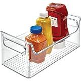 InterDesign Refrigerator and Freezer Storage Organizer Condiment Bin for Kitchen, Clear