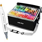 168 Colors Alcohol Art Markers Pen Set for Kids and Adult Coloring Book Dual Tip Drawing Markers for Artists Permanent Marker