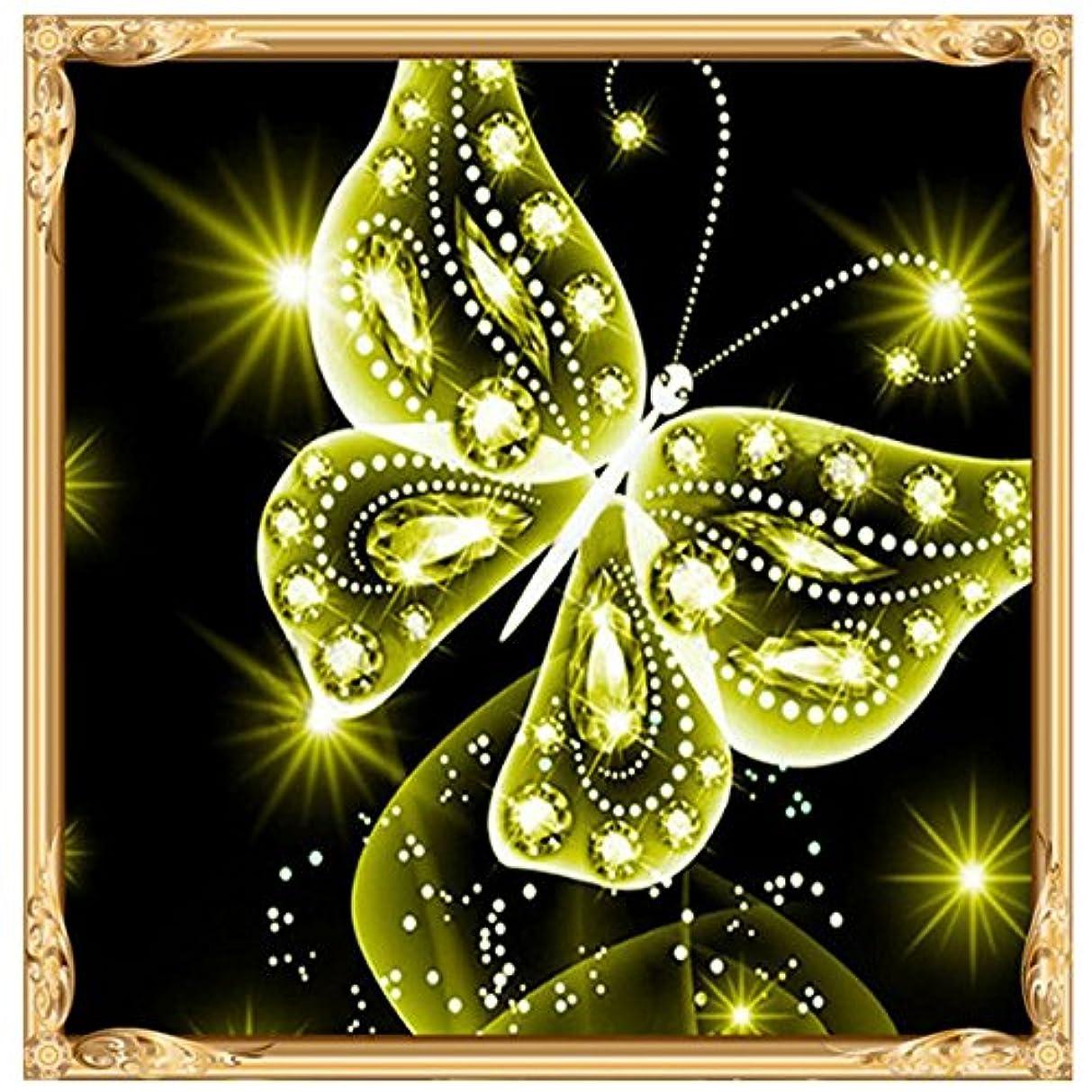 オペラコロニーたくさん5D 手作りダイヤモンド絵画 、おしゃれ 5D刺繍絵画 クロスステッチ キット ダイヤモンド刺繍絵画 25*25CM (グリーン)