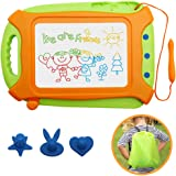 Wellchild Magnetic Drawing Board for Toddlers,Travel Size Toddlers Toys A Etch Toddler Sketch Colorful Erasable with One Carr