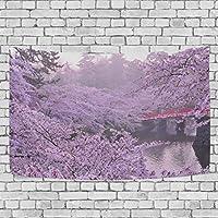 AOMOKI 聖誕 タペストリー 壁掛け 装飾用品 152x130cm 桜