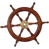 "India Overseas Trading Corporation SH8763 - Wooden Ship Wheel, 24"""