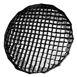 Selens 写真摄影 十六角傘型ソフトボックスディフューザー ハニカムグリッド 折りたたみ式 120cm