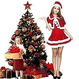 IDream 3点セット サンタクロース  コスプレ 衣装 サンタ コスチューム レディース クリスマス コスプレ コスチューム 衣装