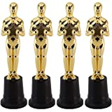 Blue Panda Gold 9 Inch Award Party Ceremony Trophy (4 Pack)