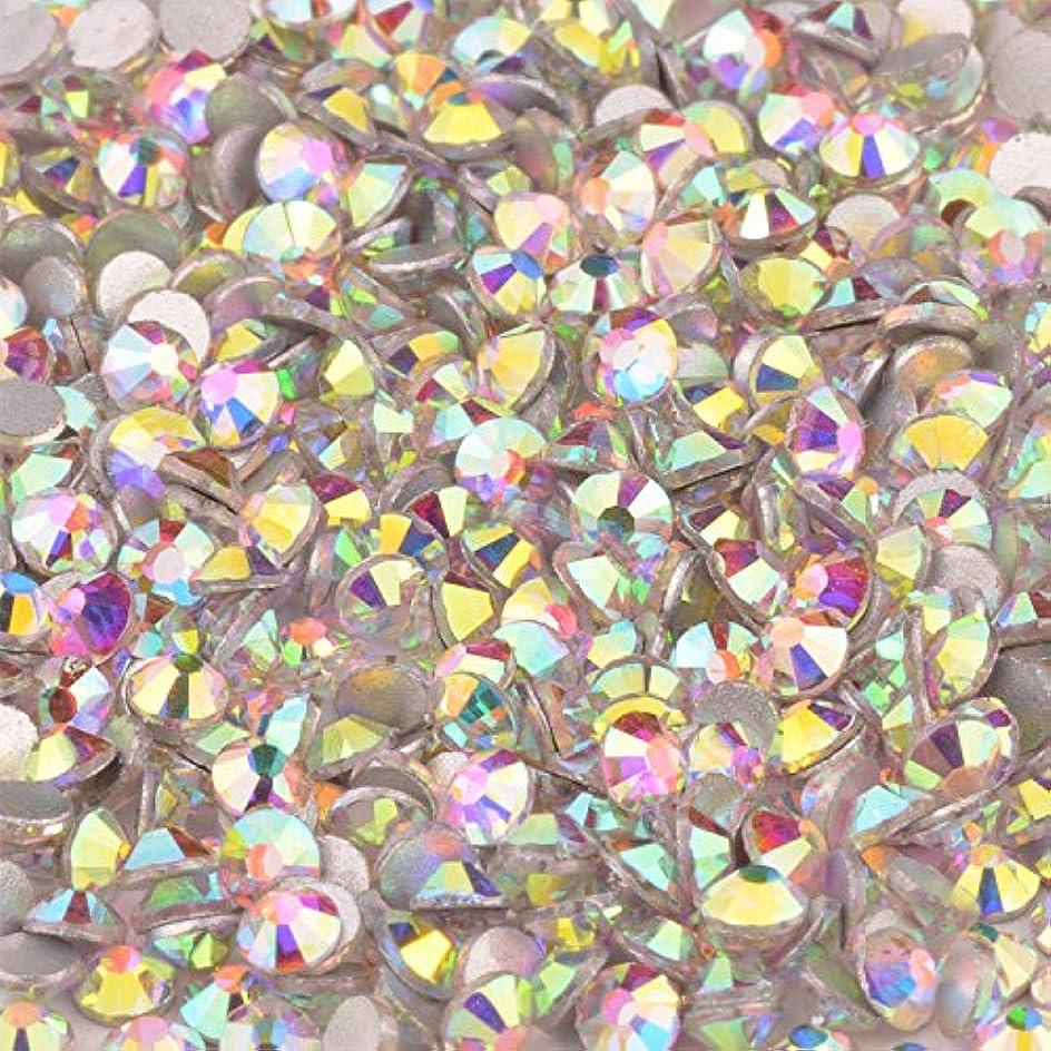 晩餐衝突コース謙虚スワロフスキー代用 改良 高品質 ガラスストーン オーロラ クリスタルAB SS20 SS16 SS12 SS10 SS8 SS6 SS4 SS3 10グロス(約1440粒) (SS16 オーロラ/1440粒)