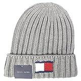 トミーヒルフィガー TOMMY HILFIGER ニットキャップ Knit Logo Cuff Hat ニット ロゴ カフス ハット H8H73210 (シルバー) [並行輸入品]