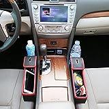 車用収納ポケット シートサイド収納 高級なレザー素材 小物入れ 取り付け簡単 2点セット