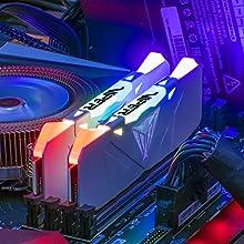 Patriot Viper Gaming デスクトップ用RGBシリーズDDR4 DRAM 3200MHz 16GBキット - ホワイト