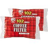 カリタ Kalita コーヒーフィルター ホワイト 2~4人用 NK102濾紙 100枚入り×2個セット