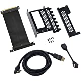 CableMod cm-VPB-HDK-R Vertical Graphics Card Holder with PCIe x16 Riser Cable 1 x DisplayPort 1 x HDMI - Black :: (Components