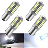 4pcs White 1156 BA15S P21W 5630 33SMD Car LED Bulbs 900LM Super Bright Reversing Light Brake Light Rear Fog Lamps Position Li