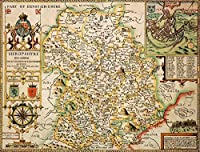 Shropshire履歴マップ1000ピースジグソーパズル( 1610)–ジョン・速度