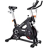 Scenic Spin Bike Flywheel Commercial Gym Exercise Home Workout Bike Fitness Commercial, Fully Adjustable, LCD Screen, Pulse M