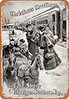 LEO LEO STORE 8 x 12 METAL SIGN - LS&MS Railroad Christmas Greetings Pub Home Decor Metal Tin Sign