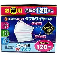 【セット品】東京企画販売 立体設計Wワイヤーマスク大人 120枚 ×4個